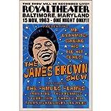 ミュージックポスタージェームス・ブラウン  James Brown, Baltimore, 1963