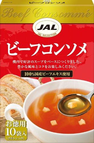 JAL スープ ビーフコンソメ 10袋×5個