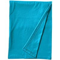 SheetWorld Soft & Stretchy Swaddle Blanket - Teal - Made In USA by sheetworld