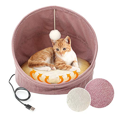 VOOPH 猫ベッド ペット用ハウス 犬猫用寝袋 ホットカー...