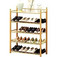 靴ラック5層シンプルな家庭用靴の収納ラック現代防塵竹のストレージ靴の棚
