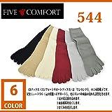 [ファイブコンフォート] FIVE COMFORT 544 コンフォートサポートソックス 【5本指靴下】【冷え性対策】 (N(23.0-24.5cm), BK:ブラック)