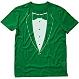 Tstars - Printed Tuxedo with Bowtie Suit Funny T-Shirt