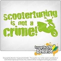 スクーター発射は犯罪ではありません!デザイン1 Scootertuning is not a Crime! Design 1 20cm x 10cm 15色 - ネオン+クロム! ステッカービニールオートバイ