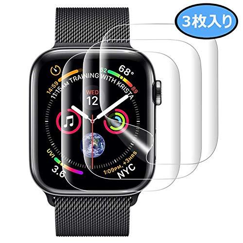 『Apple Watch 44mm フィルム COLIN【全面保護】Apple Watch Series 4 フィルム TPU素材 弧状のエッジ加工 Apple Watch Series 4 保護 フィルム 全面保護 アップルウォッチ フィルム 高透過率 HD画面 Apple Watch Series 4 44mm 対応【2枚入り】 (44MM)』のトップ画像