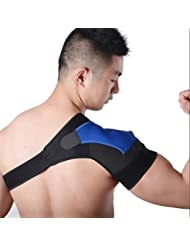 ZSZBACE 肩サポーター 右肩 左肩 肩 肩固定 けが 防止 マジック テープ式 男女兼用 簡単装着 (右肩用, ブルー)