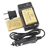 QIAOJINLIN 2個 完全互換バッテリー 予備電池 急速充電器 対応 Fujifilm 富士フイルム NP-95 FinePix F30 F31fd Real 3D W1 X100 X30 X100T X100LE X100S X-S1 X70 カメラ