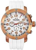[ティーダブルスティール]TW Steel 腕時計 Grandeur Tech White Rubber Chronograph Dial Watch TW133 メンズ [並行輸入品]