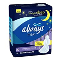 Always Maxi Overnight Extra Heavy Flow With Wings 20 Count by Always
