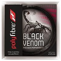 【12Mカット品】ポリファイバー ブラックヴェノム(1.15/1.20/1.25/1.30mm) 硬式テニスガットポリエステル ガットPolyfibre Black Venom (1.15/1.20/1.25/1.30) strings ブラックベノム (1.20mm) [並行輸入品]