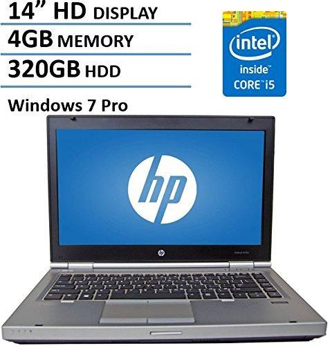 HP 14 HD Elitebook 8470P Business Laptop Computer Intel Dual Core i5 2.6Ghz Processor 4GB Memory 320GB HDD DVD VGA RJ45 Windows 7 Professional (Certified Refurbished) [並行輸入品]