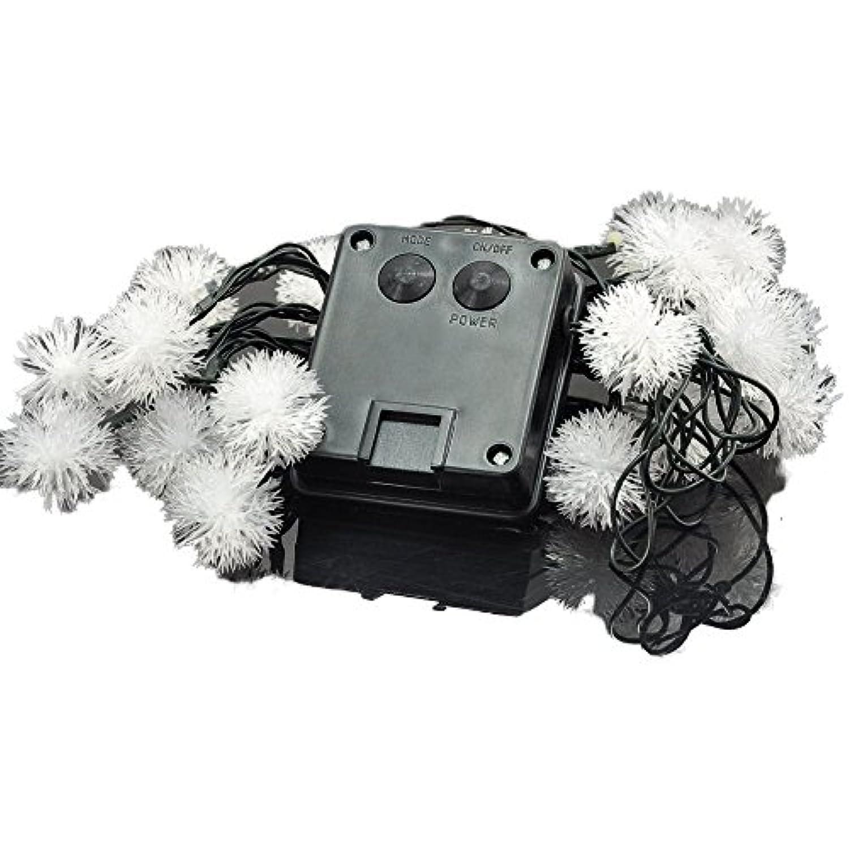 COM-SHOT 【 雪の結晶 】 LED ライト 2m 20灯 【 ホワイト 】 クリスマス イベント パーティ MI-KONAYUKI-WH