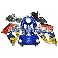 AUPARTSJP新型オートバイ外装部品セット適応フルフェアリングキットフィットスズキGSXR600 GSXR750 K1 2000 2001 2002 2003 g-sxr600 00-03 ABS樹脂注入ボディワーク - グロスブルーイエローレッドカラー