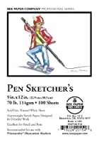 Bee Paper Company Pen Sketchers Paper Book 9-Inch by 12-Inch 100 Per Sheet [並行輸入品]
