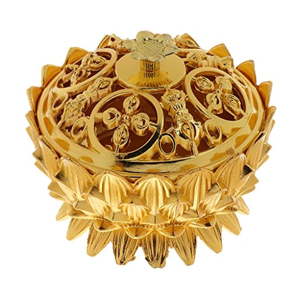 高原運搬ヶ月目仏教 チベット 蓮 香りバーナー 香炉 金属 工芸品 家 装飾 全3選択 - #3