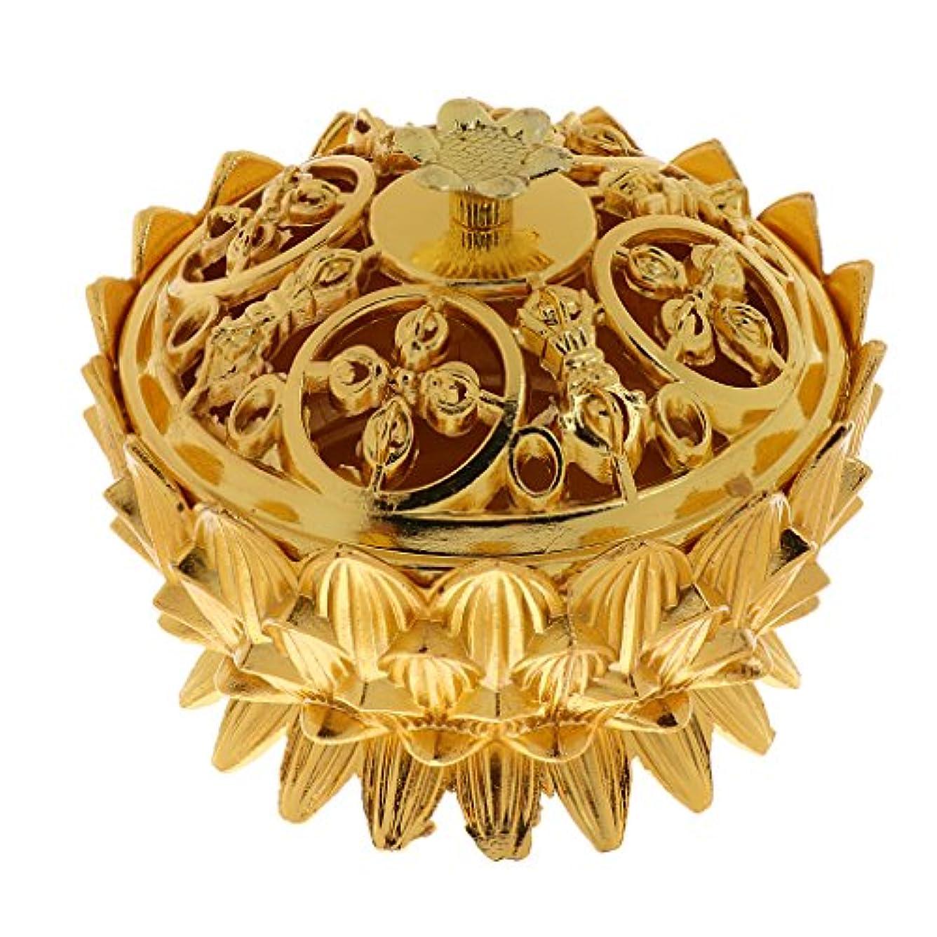 石化する独立して願望仏教 チベット 蓮 香りバーナー 香炉 金属 工芸品 家 装飾 全3選択 - #3