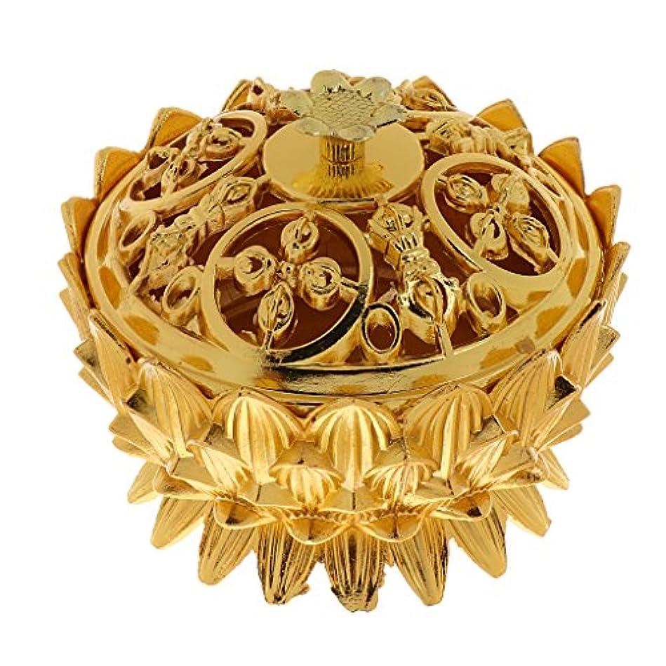 迫害不道徳望まない仏教 チベット 蓮 香りバーナー 香炉 金属 工芸品 家 装飾 全3選択 - #3