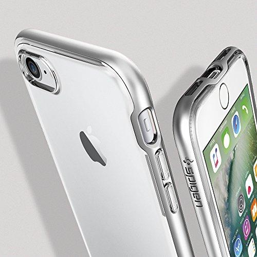 【Spigen】 iPhone7 ケース, ネオ・ハイブリッド クリスタル [ クリア 二重構造 スリム ] アイフォン 7 用 カバー (iPhone7, サテン・シルバー)