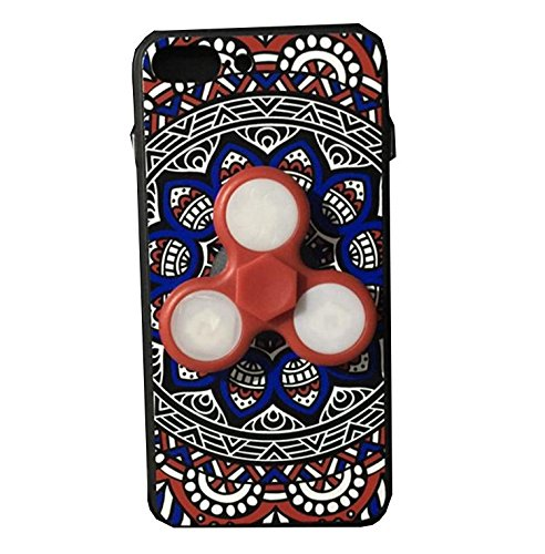 Dmeru  iPhone6s PLUS iPhone6 plus ケース 一本形 指スピナー ハンドスピナー スピン 急速回転 ストレス解消 暇つぶし おもちゃ LED 光る 華やか 豪華 ピカピカ 高回転 耐久フォーカス玩具 アイフォン6s PLUS/ アイフォン6 plus プラス カバー スマホケース スマホカバー 超薄 軽量 プラスチック製 アイホン6s プラス カバー アイフォーン