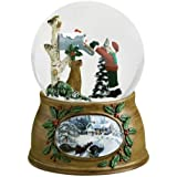 15cm Musical Letter From Santa Claus Christmas Snow Globe Glitterdome Plays Santa is Coming To Town
