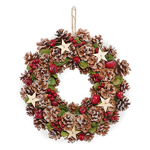 LOWYA (ロウヤ) クリスマスリース 壁掛け 玄関飾り ...
