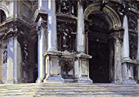 ¥5K-200k 手書き-キャンバスの油絵 - 美術大学の先生直筆 - Santa Maria della Salute3 John Singer Sargent 絵画 洋画 複製画 ウォールアートデコレーション -サイズ18