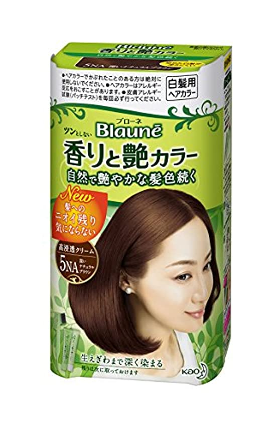 樹皮故障中ブローブローネ 香りと艶カラークリーム 5NA深いナチュラルブラウン
