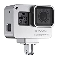 Joint Victory Housing Shell CNC Aluminum Alloy Protective Cage with Insurance Frame for GoPro HERO New 2018/6/5 Action Camera (Silver)