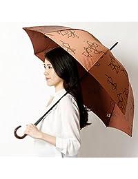 ジルスチュアート(雑貨)(JILLSTUART ) 【長傘】リボン柄プリント雨傘(長傘)【ブラウン/60】