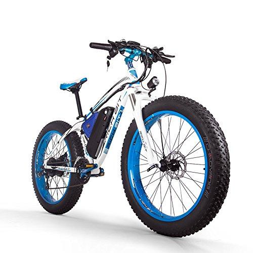 RICH BIT 022 電動アシスト自転車 17×26インチ タイヤ太い 雪道自転車 1000W 48V*17AH 21変速 電動自転車 LCD付き