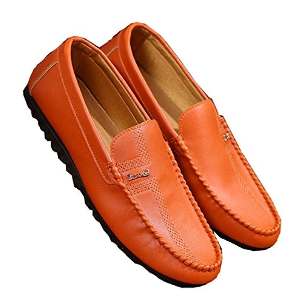 ロケーション立方体学期[XINXIKEJI]ローファー ローカット ローファースリッポン 運転靴 カジュアル ラバーソール 耐摩耗性 紳士靴 防滑 軽量 通勤