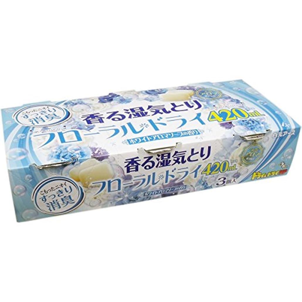 摩擦相対性理論梨白元アース ドライ&ドライUP 香る湿気とり フローラルドライ ホワイトアロマソープの香り 3個入