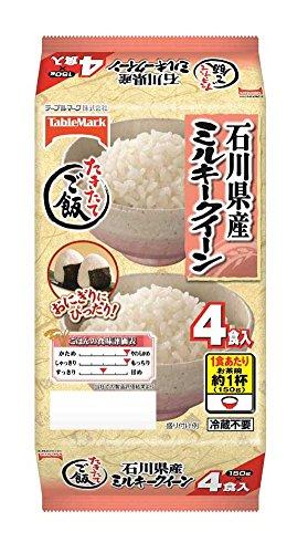 たきたてご飯 石川県産ミルキークイーン 分割(4食入)