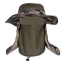 帽子 ぼうし メッシュ 使用 紫外線 から 360度 ガード / UV カット 日焼け 防止 顔 首 日よけ カバー / 登山 釣り プール 海水浴