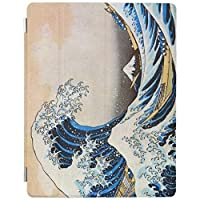 iPad Pro 9.7 ケース Pro 9.7インチタブレット専用半透明 PC + PUレザー オートスリープ機能付き 三つ折スタンド バックケース神奈川沖浪裏 北斎の素晴らしい波