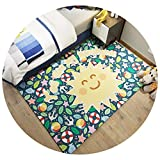 家庭用漫画子供クライミングマット寝室のベッドサイドカーペットキッチンベイウィンドウポーチマット環境保護ウォッシュ,KT-06,60×200cm