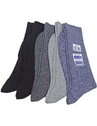 東洋紡 銀世界使用 銀イオンで除菌と爽やか麻混靴下 日本製 消臭機能付き リブ柄 アソート 5足セット