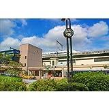 【日本の風景ポストカードAIR】東京 JR西大井駅(新幹線通過)の葉書ハガキはがき photo by MIRO