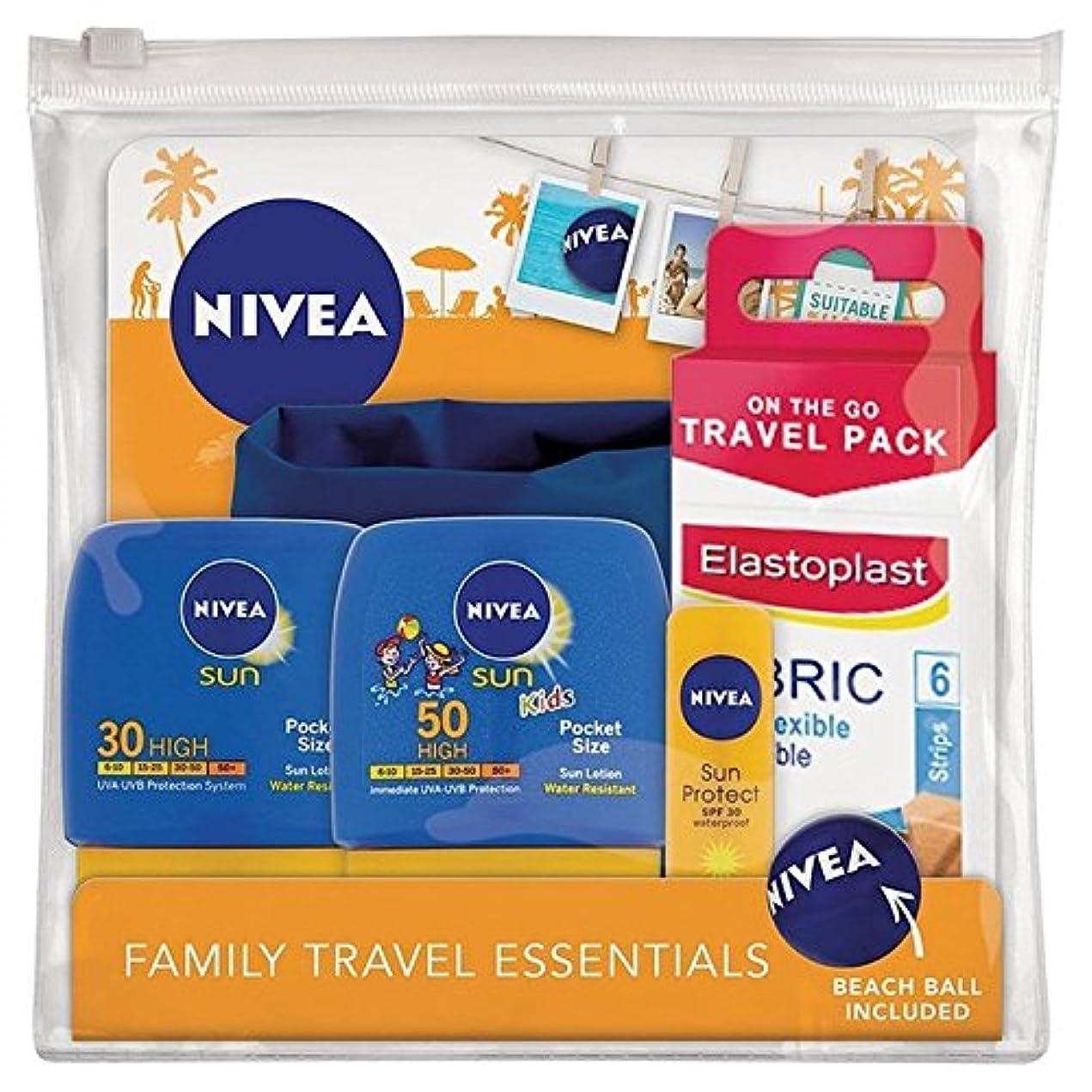 リットル曲線心臓ニベア日旅行パック x4 - Nivea Sun Travel Pack (Pack of 4) [並行輸入品]