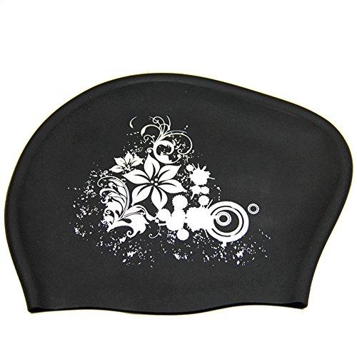 Peacoco スイミングキャップ 水泳キャップ 長い髪守り シリコン 水泳帽 ロングヘアー対応 長い髪 メンズ レディース 女の子 女性 大人用 子供 大きいサイズ 競泳 若者 防水 耳の乾燥 髪の毛の乾燥 トレーニング 試合