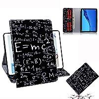 タブレットPCカバーケース Huawei社MediaPad M5 Lite 10.1用フォーミュラパターン横型フリップレザーケース、ホルダー付き&カードスロット&ウォレット付き