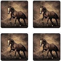 Horseゴムスクエアコースターセット( 4パック) Great Gift Idea