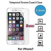 【2枚入り】CASE FACTORY by nuglas Screen protector TEMPERED GLASS for iPhone8/7 日本製(AGC旭硝子製)ガラス使用 硬度9H 厚さ0.3mm 2.5Dラウンドエッジ 02tp7
