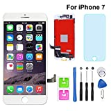"for iPhone 7 Screen Replacement White 4.7"" Digitizer LCD Touch Screen Display Assembly with Repair Tools (iPhone 7, White)"