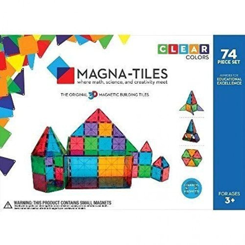 [マグナ タイル]Magna Tiles MagnaTiles Clear Colors 74 Piece Set 14874 LYSB018GSZXH2-TOYS [並行輸入品]