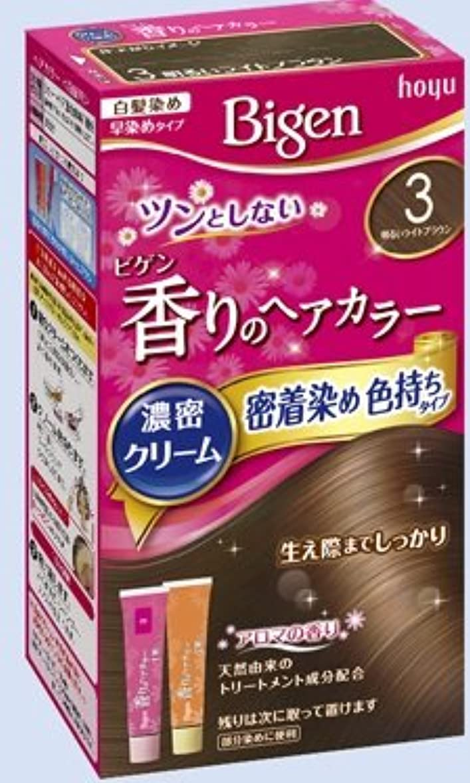 幸運ネスト便利ビゲン 香りのヘアカラー クリーム 3 明るいライトブラウン × 27個セット