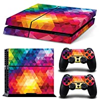 Linyuan 安定した品質 0242* Skin Sticker Vinyl Decal Cover for PlayStation 4 PS4 Console+Controllers