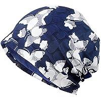 MaxNova Womens Cotton Beanie Lace Turban Soft Sleep Cap Chemo Hats Fashion Slouchy Hat