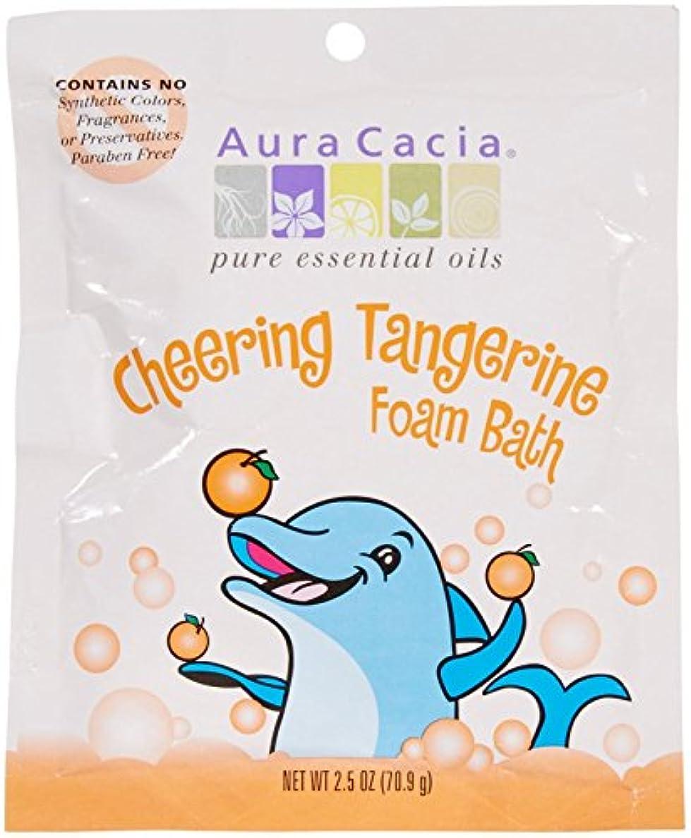 次可能性ボットAura Cacia, Cheering Foam Bath, Tangerine & Sweet Orange Essential Oils, 2.5 oz (70.9 g)
