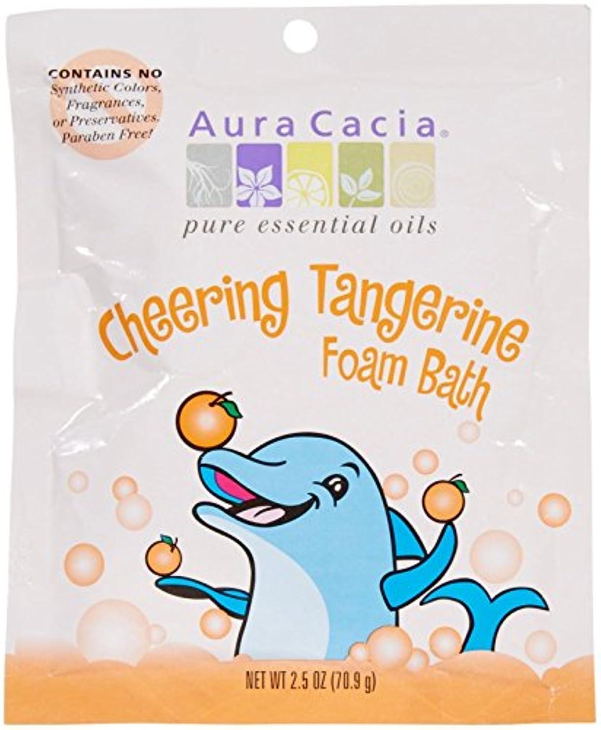 悲観主義者浴気性Aura Cacia, Cheering Foam Bath, Tangerine & Sweet Orange Essential Oils, 2.5 oz (70.9 g)